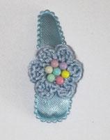 Haarspange  Blume mit bunten Perlen, 5,5 cm