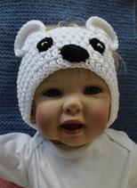 Stirnband Eisbär, Grösse 3-7 Monate