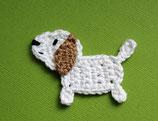 Häkelapplikation kleiner Hund