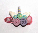 Haarspange Einhorn aus Fimo, 5,5 cm