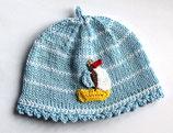 Babymütze  Segelschiff. Grösse ca. 0 - 6 Monate