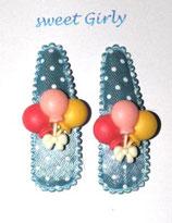 Kinder Haarspange, ein Paar Luftballon