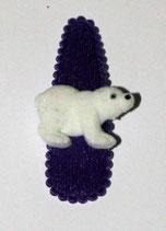 Haarspange Eisbär