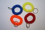 Clickerarmband - Spiralarmband mit Schlüsselring