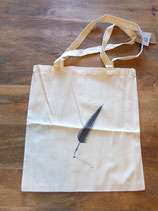 Tote bag schrijfveer / writing feather