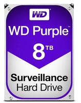 WD Purple Surveillance Hard Drive WD80PURZ - Disco duro - 8 TB para sistemas de vigilancia CCTV