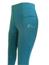 Aquamarin ReitsportPlus Reitleggings Damen Silikon Vollbesatz Reithose mit Grip