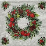 SPX小2 X22  32513465 wreath on Linen