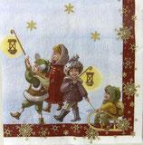 XS中 X01   DLX-593900 Santa with Kids