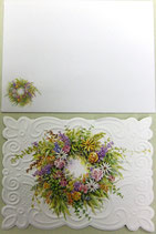 Carol Greeting Card NC2133「フラワーリング」Printed in China