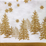 SPX小1 X12 511722 Tree and Snowflakes Gold