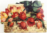 PS Greeting Cards APU-GC75 Tulips in Square Basket