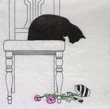 SI10中 F98 1332251 Black Cat Vase