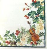 テーブルクロス 110-824 Christmas Music