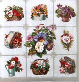 SI中5 F28 SDOG008801 Chessboard with Garden Flowers