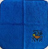 ロコサトシ オリジナル刺繍ハンカチ 大 ブルー