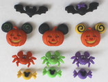 Disney & OS Button *7922 Mikey and Minnie Halloween