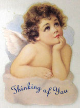 PS Greeting Cards APU-GC234 Cloud Cherub