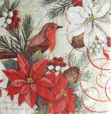 PS小 P03 53632 Birds and Poinsettia