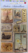 Stickers *42-53369「Paris stamp」