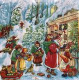 X'mas5中 X24 SLGW021801   Santa with kids