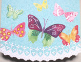 Carol Greeting Card NP2409「Multicolored Butterfly」