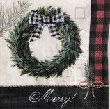 SPX小1 X22 C835400 Cozy Kinit Holiday Wreath