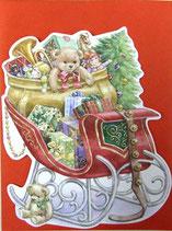 Carol Wilson Christmas *CRGBX177 ギフトが乗ったそり 赤封筒付   5