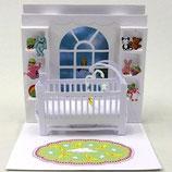 3Dカード PS594「Baby Crib」