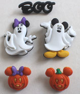Disney & OS Button *7925 Mikey and Minnie Ghosts
