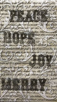 ゲストタオル 99564 Ivory Calligraphy