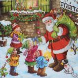 X'mas 3中 X03 SLGW015601 Santa Giving Presents