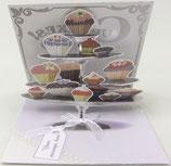 3Dカード PS1035 「Cupcake Tier」