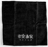 ロコサトシ オリジナル刺繍ハンカチ 小 黒