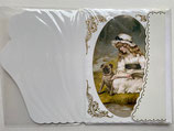 ヴィクトリア調 Greeting Card 18975932-04 犬と女の子