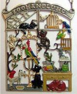 壁飾り*12-02066c Zoohandlung ペットショップ