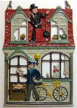 12-02167c Chimney Reinigung und Postversand 郵便配達と煙突掃除