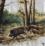 SI11中 F128 13311020 Wild Boars in the woods