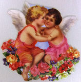 PS Greeting Cards APU-GC54467 Cherubs Embrace