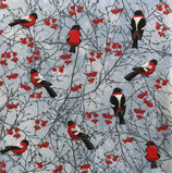 X'mas4中 X26 SDL012500  赤い実と小鳥