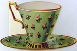 PS Greeting Cards MS CA165 Rose Tea Cup