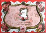 Photo Frame Greeting Card PINK-288