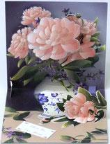 3Dカード *PS877「Peony Bouquet」