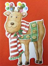Carol Wilson Christmas *CRGBX195 トナカイ 赤封筒付   8