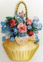 PS Greeting Cards APU-7546 Floral Gift Basket