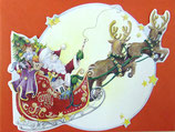 Carol Wilson Christmas *CRGBX123 トナカイとサンタ 赤封筒付   3