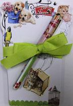 STダイカットメモ&ペン LD-22049 Pet Shoppe
