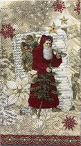 ゲストタオル 99544 Christmas List Santa