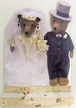 PS Greeting Cards APU-GC246 Teddy Wedding