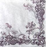 SI9中 F95 SLOG020003 Floral Frame Pattern Vioret